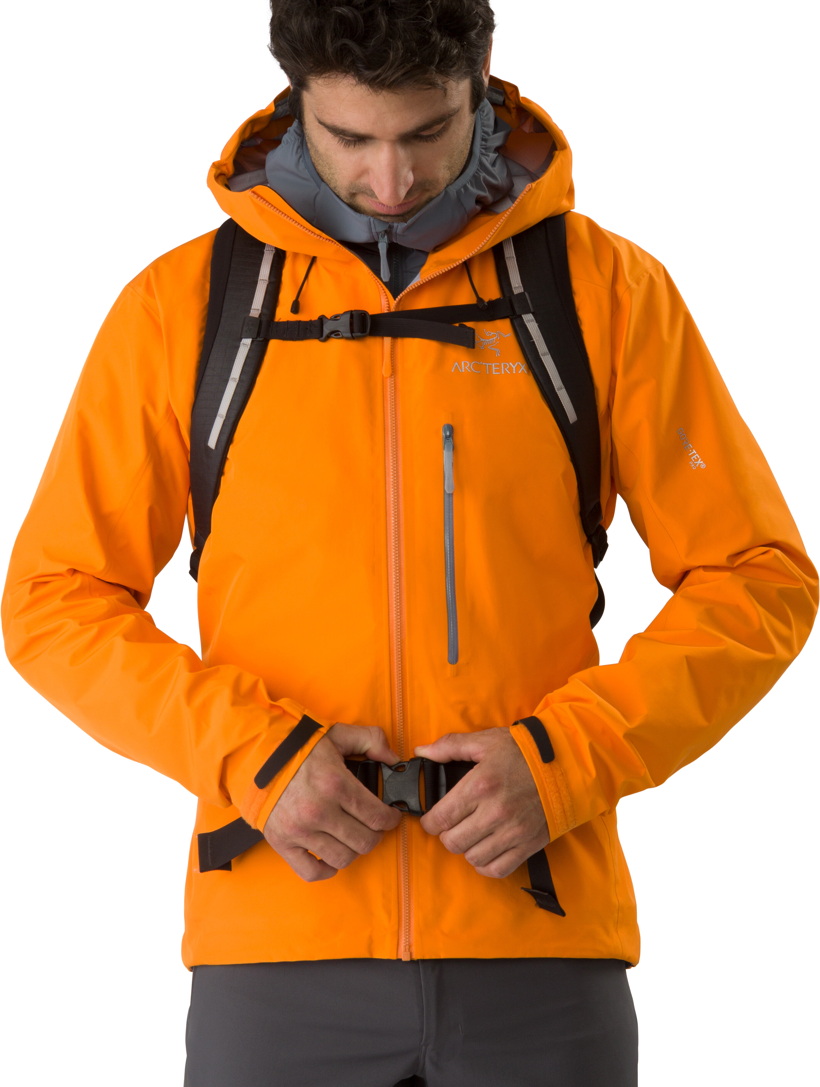 Arc Teryx Alpha Fl Jacket Men Orange At Addnature Co Uk